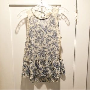 Urban Outfitters Pins and Needles Cream Floral Top